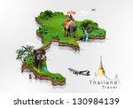 thailand travel concept | Shutterstock . vector #130984139