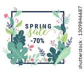 spring promotion offer banner.... | Shutterstock .eps vector #1309846687