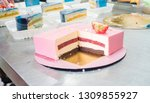 mousse cake master class.... | Shutterstock . vector #1309855927