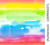 abstract watercolor hand... | Shutterstock . vector #1309856371
