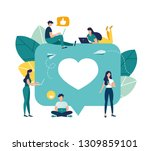 vector colorful illustration of ... | Shutterstock .eps vector #1309859101