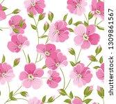 linum seamless pattern for... | Shutterstock .eps vector #1309861567
