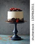 chocolate cake with cheese... | Shutterstock . vector #1309862011
