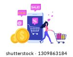 online shopping  concept with...