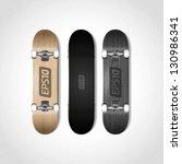 photorealistic skateboard... | Shutterstock .eps vector #130986341