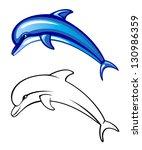 dolphin | Shutterstock .eps vector #130986359