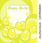 yellow green eggs | Shutterstock . vector #130986884