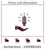 light bulb energy saving ... | Shutterstock .eps vector #1309883281
