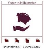 piggy bank vector icon. | Shutterstock .eps vector #1309883287