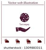ball with holes logo vector... | Shutterstock .eps vector #1309883311