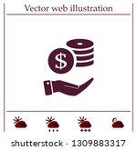 money  coins  stateroom vector... | Shutterstock .eps vector #1309883317