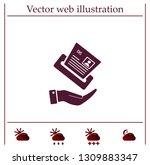 newspaper  press  news vector... | Shutterstock .eps vector #1309883347