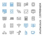 electronic icons set.... | Shutterstock .eps vector #1309884604