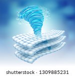 water power rotating in the... | Shutterstock .eps vector #1309885231