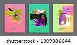 artistic covers design.... | Shutterstock .eps vector #1309886644