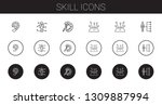 skill icons set. collection of... | Shutterstock .eps vector #1309887994