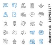 talk icons set. collection of...