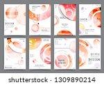 artistic covers design.... | Shutterstock .eps vector #1309890214