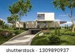 3d rendering of modern cozy... | Shutterstock . vector #1309890937