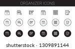 organizer icons set. collection ... | Shutterstock .eps vector #1309891144