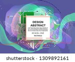 vector  abstract geometric... | Shutterstock .eps vector #1309892161