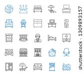 bed icons set. collection of... | Shutterstock .eps vector #1309893157
