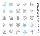 wildlife icons set. collection... | Shutterstock .eps vector #1309897207