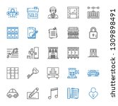 key icons set. collection of... | Shutterstock .eps vector #1309898491