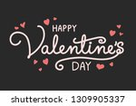 beautiful greeting card with... | Shutterstock .eps vector #1309905337