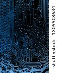 abstract close up of mainboard... | Shutterstock . vector #1309908634