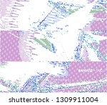 abstract vector background dot... | Shutterstock .eps vector #1309911004
