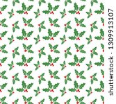 christmas seamless pattern with ... | Shutterstock .eps vector #1309913107