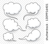 comic speech bubbles new... | Shutterstock .eps vector #1309916401
