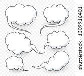 comic speech bubbles new... | Shutterstock .eps vector #1309916401