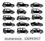 vector black auto icon set on... | Shutterstock .eps vector #130992917
