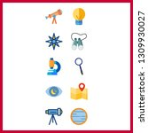 10 discovery icon. vector...   Shutterstock .eps vector #1309930027