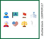 8 government icon. vector...   Shutterstock .eps vector #1309939117