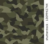 geometric camouflage seamless...   Shutterstock .eps vector #1309942744