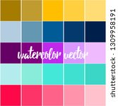 beautiful background of squares ... | Shutterstock .eps vector #1309958191