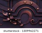 beautiful decorative elements... | Shutterstock . vector #1309962271