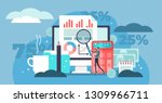 accounting vector illustration. ... | Shutterstock .eps vector #1309966711