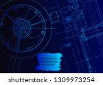 cover  flyer  banner. vector... | Shutterstock .eps vector #1309973254