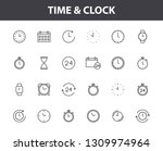 set of 24 time and clock web...