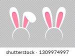 rabbit ear hat. happy easter...   Shutterstock .eps vector #1309974997