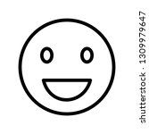 smiling face vector... | Shutterstock .eps vector #1309979647