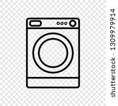 washer icon vector | Shutterstock .eps vector #1309979914