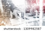 business intelligence. diagram  ... | Shutterstock . vector #1309982587