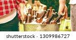 diverse people friends hanging... | Shutterstock . vector #1309986727