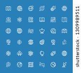editable 36 orbit icons for web ... | Shutterstock .eps vector #1309989511
