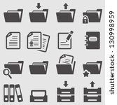 folder icons set.vector | Shutterstock .eps vector #130998959